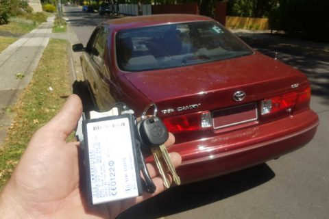 2001 Toyota Camry Lost All Keys